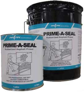 MFM Prime-A-Seal Adhesive Primer for Roofing (5g) - MFM Prime-A-Seal® Adhesive Primer. A professional grade primer designed to promote superior adhesion of MFM self-adhering products (Peel & Seal, WindowWrap, SubSeal, FlexClad, etc. 5-Gallon Pail. Price/Pail. (leadtime 2-3 days; UPS Ground or truck ship)