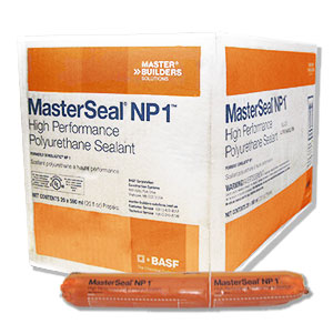 Masterseal NP1 Sealant, Propak 20 Oz, BLACK color (case/20) - Masterseal NP-1 Sealant, BLACK color, Pro-Pak 20 oz. Sausage Pack. Price/Pack. (20/case, order full cases for discounts)