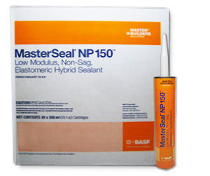 Masterseal NP 150 Sealant, BLACK, 300 mL (case/30 tubes) - Masterseal NP 150 (formerly Sonolastic 150 VLM), BLACK, Very Low Modulus / High Movement Capable Sealant. 300 ml Tube. 30 Tubes/Case. Price/Case. (special order item; 2-3 week leadtime)