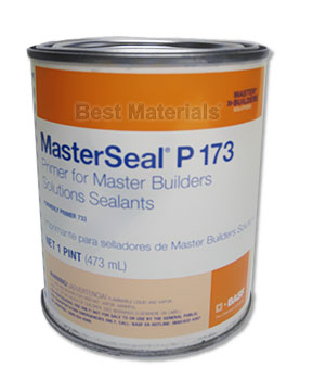 MasterSeal P 173 Primer (Sonolastic 733), 1-Pint (UPS ground only) - MasterSeal P 173 Primer (formerly Sonolastic 733. Use with Polyurethane Caulks and Deckcoatings, such as  NP1, SL1, SL2, Sonoguard / MasterSeal. 1-Pint Can. Price/Can. (Flammable; UPS Ground shipment only)