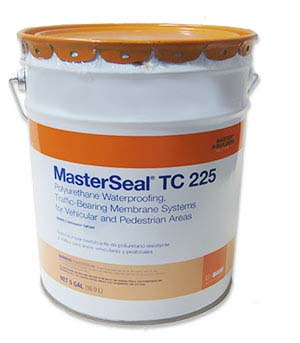 MasterSeal TC 225 Top Coat (Sonoguard), GRAY Color (5G) - MasterSeal TC 225 (aka TC 225HT, formerly Sonoguard) Top Coat Waterproofing GRAY COLOR. The Topcoat is Part of a complete traffic grade waterproofing membrane system. 5-Gallon Pail. Price/Pail. (see ordering notes in detail view)