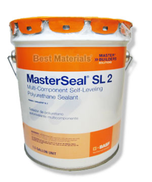 SL2 Polyurethane Wide-Joint Sealant, Custom COLOR TINTABLE (1.5G) - MasterSeal SL2 (formerly Sonolastic SL2) Custom Color Tintable Multi-Part Polyurethane Wide Expansion Joint Sealant (up to 3 inch joints). Ships as a 1.5G kit in a 2 Gallon pail. Price/Kit. (requires Color-Pak, sold separately)