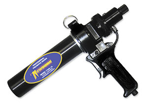 Newborn 710AL-12 Pneumatic Air Driven Caulk Gun, 1/10-Gallon Tube - Newborn 710AL-12 120 PSI Pneumatic Drive 1/10-Gallon Caulk Gun. Single Component gun fits 1/10 G tubes, Aluminum Barrel, Quick Coupler Plug Retainer, Pistol Grip, Auto Release Shut Off Valves and Air Pressure Regulator. Price/Each.