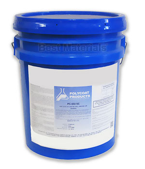 Polycoat PC-550SC Base Coat, Water Catalized (5G) - POLYCOAT PC-550SC WATER CATALIZED BASE COAT, 2-PART, CATALYST INCLUDED, GRAY COLOR, 100 VOC. 5 GALLON KIT. PRICE/KIT. (UPS Ground shipping only)