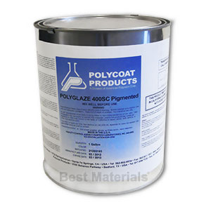 Polyglaze 400SC Top Coat, TAN Color, 1-part (1G) - POLYGLAZE 400SC WATERPROOFING TOP COAT. 100 VOC, MEETS SCAQMD. ONE-PART PRE-TINTED TAN COLOR. 1-GALLON PAIL. PRICE/PAIL.