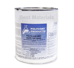 Polyglaze 400C Top Coat, TAN, 2-part kit (1G) - POLYGLAZE 400C TAN COLOR WATERPROOFING TOP COAT (2-part kit, Topcoat and color pigment). 1 GALLON KIT. PRICE/KIT. (UPS Ground shipping only; VOC 250, not shippable to S. Calif.)