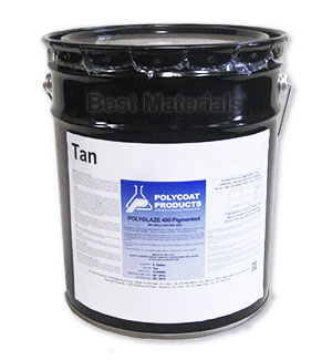 Polyglaze 400 Top Coat, TAN Color, 1-part (5G) - Polyglaze 400 Waterproofing Topcoat, TAN COLOR Pre-tined 1-Part. 5G pail. Price/Pail. (VOC 340, not shippable to VOC restricted areas)