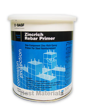 ZincRich Rebar  / Steel Primer (1-QT) - ZincRich (zinc rich) Rebar Primer. One-component ~55% Zinc Epoxy rust and submerged metal primer. Quick Drying. 1-Quart Can. Price/Can. (Very Flammable: UPS Ground shipment only)