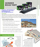 Quarrix Building Products Ridge Vent Guide / Catalog