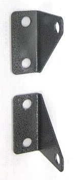 Roof Hatch Upper Shock Brackets, #0516, #0517 (Set of  2) - Roof Hatch Upper Shock Brackets, Set of one each #0516 and #0517 Upper Shock Mount Brackets, Gray Powder Coat Steel. Fits JL Roof Hatches and some others. Price/Set.