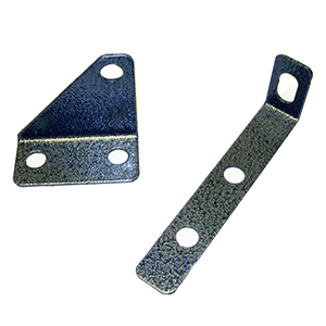 Roof Hatch Replacement Inside Padlock Bracket Set - ROOF HATCH REPLACEMENT INSIDE PADLOCK LOCK / HASP BRACKET SET (padlock not incuded). INCLUDES 2 PIECE GRAY POWDER COATED STEEL INSIDE LOCK BRACKETS (1 piece each). PRICE/SET.