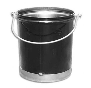 Roofmaster 5 Gallon Hot Asphalt Bucket, 24 Gauge Steel - Roofmaster 250222, 5 Gallon Hot Asphalt Bucket, 24 Gauge Steel, 5/16 drop bail handle. Meets OSHA safety Specifications for Carrying Elevated Temperature Materials. Price/Each. (shipping leadtime 2-7 business days)