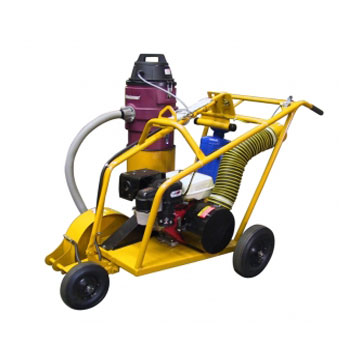 Roofmaster 13HP Power Roof Saw with HEPA Vacuum - Roofmaster Power Roof Saw, 13HP Honda Engine, with HEPA Vacuum. Price/Each. (Special Order Item; 2 week leadtime; use Freightquote shipping)