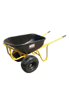 Heavy Duty Steel Wheelbarrow with Two 18 x 8.5 Pneumatic Tires