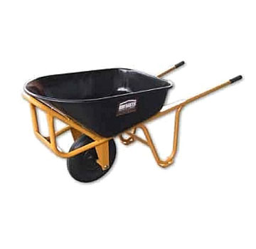 Roofmaster Single-Tire Wheelbarrow, w/No Flat Tire - Roofmaster Single Tire Wheelbarrow. Long Handle, All Steel, with No Flat Tire. Price/Each.