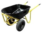 Long Handle Steel Wheelbarrow w/  2 No-Flat Tires