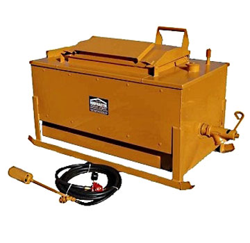 Roofmaster SM 60, 60 Gallon Skid Kettle - Roofmaster SM 60, 60 Gallon Skid Kettle with larger B-3 Burner, Partlow High Low Control System, low profile skid, 531270 Crane style Draw-off valve. Price/Each. (shipping leadtime 1-3 weeks)