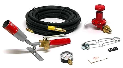 Red Dragon RT 1-1/2-10C Detail Torch Kit - RED DRAGON RT DETAIL KIT FOR ROOFING. #1-1/2-10 50,000 BTU DETAIL TORCH, REGULATOR, HOSE, GAUGE, &  STRICKER. PRICE/KIT.