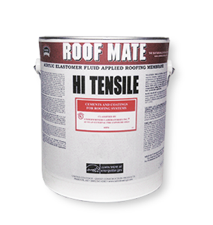 RoofMate HT High Tensile Elastomeric Roof Coating, WHITE (1G) - Roof Mate HT, High Tensile Elastomeric Roof Coating, WHITE color. Meets ASTM D6083, Energy Star and is CCRC Listed. 1-Gallon Bucket. Price/Bucket.
