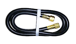 1/4 Inch ID x 4 ft. Propane Hose, 9/16 LH FPT Fittings - 1/4 Inch ID x 4 ft., UL listed propane hose. With two 9/16 LH FPT (9/16-18 Inch) fittings (Sievert type). Maximum working pressure 350 PSI, burst test of 1750 PSI. Price/Each.