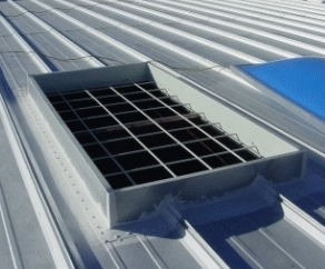 custom metal roof curb and skylight safety screen