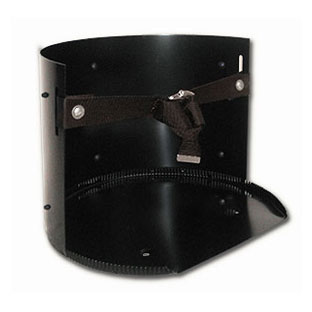 Solid Steel 6-15 Gallon Utility Rack w/ Strap - Heavy Duty Solid-Steel 6 to 15 Gallon Utility Rack with Adjustable Cinch-Buckle Strap and Zinc Plated Buckle. BLACK Color. Fits 6-15 gallon water coolers and large buckets, tank, etc. Made in USA. Price/Each.