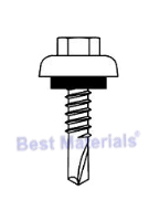 #12-14 x 1-1/2 HWH TEK w/ ZAC Cup Head & Seal Washer (250)