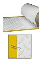 TPO Walkway Pad, WHITE w/Yellow Border, Diamond, 34 in. x 50 ft. Roll