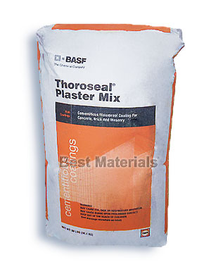 Thoroseal Plaster Mix Cementitious Waterproofing, 80 lb. - Thoroseal® Plaster Mix, Cementitious Waterproofing, for concrete, brick and block. Provides a very high-quality finish with excellent adhesion. GRAY Color. 80 Lb/bag. Price/Bag. (see detail view ordering notes)
