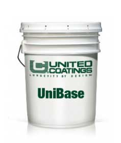 UniBase Penetrating Adhesive Primer (5G) - UNIBASE ADHESIVE / PRIMER. One-part acrylic adhesive / primer. Penetrates &  seals modified bitumen surfaces. Blocks oil migration into Acrylic topcoats. Also used to adhere roofing fabrics. 5-Gallon Pail. Price/Pail. (shipping leadtime 1 week)