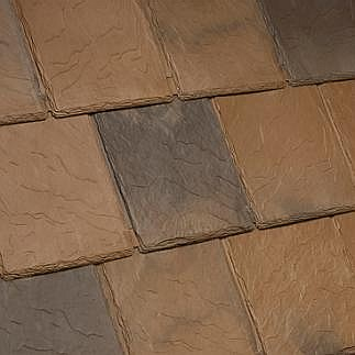 Bellaforte synthetic slate roof field tiles sabino blend 10 for Davinci synthetic slate price