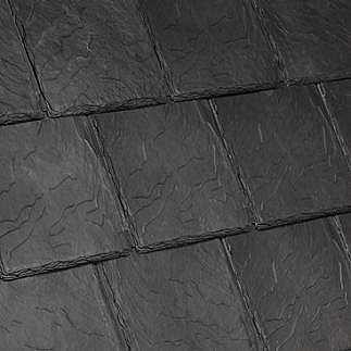 Bellaforte Synthetic Slate Roof Field Tiles Slate Black