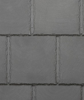 Bellaforte Synthetic Slate Roof FIELD Tiles, SLATE GRAY (10) - Bellaforte Synthetic Slate Roof FIELD Tile, SLATE GRAY Color. 10 Pieces/Bundle. Price/Bundle. (special order item; 3-4 week leadtime; 20% restock fee; less than 12 bundles not returnable; free sample available)