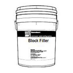 Block Filler 749 (5G) - Block Filler 749, white color smooth acrylic filler for block wall and larger wall repairs. 5G/Pail. Price/Pail. (special order; see detail view for ordering notes)