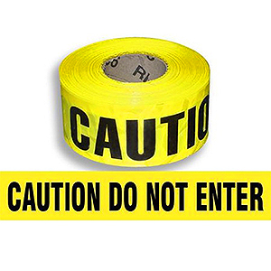 CAUTION DO NOT ENTER Barricade Tape, 2 mil, 1000 ft., 8-rolls - YELLOW -CAUTION DO NOT ENTER- BARRICADE TAPE 3 INCH x 1000 FEET, 2-MIL. 8 ROLLS/CASE. PRICE/CASE.