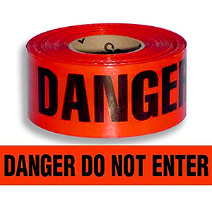 Danger Do Not Enter Barricade Tape 1000 Ft 2 Mil 8 Rolls