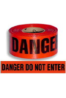DANGER DO NOT ENTER Barricade Tape, 1000 ft., 2-mil, 8 rolls