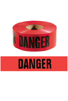 Red DANGER Barricade Tape, 1000 ft.,  2-MIL, 8-rolls