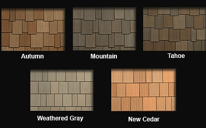synthetic shake roof tile natural color blend options
