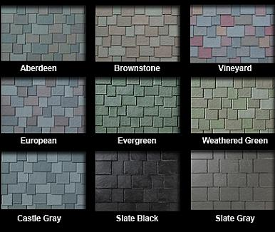 Slate multi width synthetic roof tiles select color 30 for Davinci shingles cost
