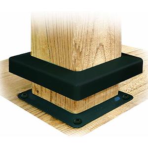 Deck Bracket Cover 4x4 Black Color Box 48