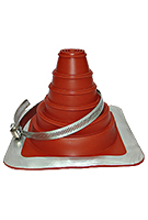 #3 Deck-Mate Red Silicone Boot with Stainless Steel Clamp