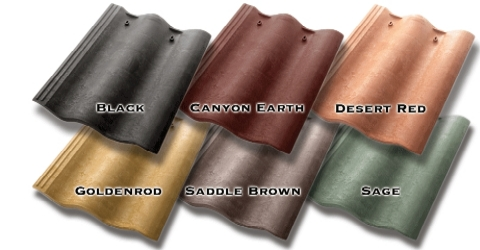 Synthetic Mission Roof Field Tiles Desert Red Terra