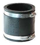 Drain Coupling, 3 to 3 In. Straight Adaptor, PVC Rubber