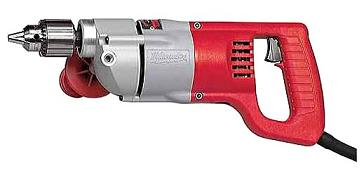 MILWAUKEE #1107, 1/2 in. 0-500 RPM D-Handle Drill, Recon - Milwaukee #1107 Electric Drill, 1/2 in., D-Handle, 0-500 RPM, 7-Amp 120V, Keyed Chuck, Reverseable, with Removeable Side Handle. Factory Reconditioned with Full 5 year Factory Warranty. Price/Each. (ground shipping only, photo ID and Signature required)