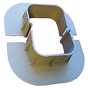 E-Curb 4.5 x 3.5 Inch ID Pipe Flashing KIT (3 sets w/filler, M1) - Chem Link E-Curb F1363, 4.5 x 3.5 inch Inside Rectangle Size Molded 2-Piece Interlocking Curb Kit. Contains 3 Sets (6 each 1/2 pieces), 1/2 gallon 1-Part Sealant, two 10.1 oz tubes of M1 Sealant. Price/Kit. (shipping leadtime 2 business days)
