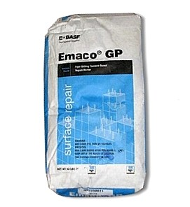 Emaco GP, Fast Setting Waterproof Repair Mortar (50lb) - BASF MasterEmaco N 424 (formerly Emaco GP / Thorite) Fast-Setting Waterproof Repair Mortat, Trowel Grade. 50-lb Bag. Price/Bag. (special order; see detail view for ordering notes)