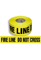 FIRE LINE DO NOT CROSS Barricade Tape, 3-mil, 1000 ft., 8 rolls