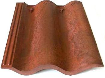 Synthetic Spanish / Mission Roof FIELD Tile, CLASS-A, Select Color (1) - Synthetic Spanish / Mission Roofing FIELD Tiles, CLASS-A Fire Rated. By Brava Tiles, Made in USA. Price/Piece. (see detail view and Select Color before adding to cart; special order; leadtime 2-4 weeks)