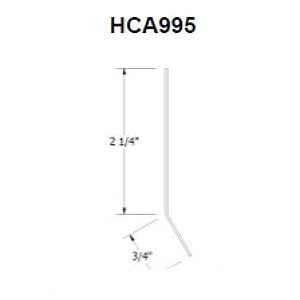 CastleTop Standard Starter Cleat, 12 ft - CastleTop HCA995 Standard Starter Cleat. 1-5/16 x 3 inch x 12 feet, 0.032 Aluminum, Kynar Painted. Price/Each. (concealed part, no color match required; leadtime 2-4 weeks, use UPS Freight during checkout)